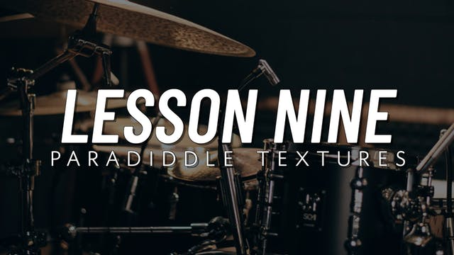 Intermediate Groove | Lesson 9