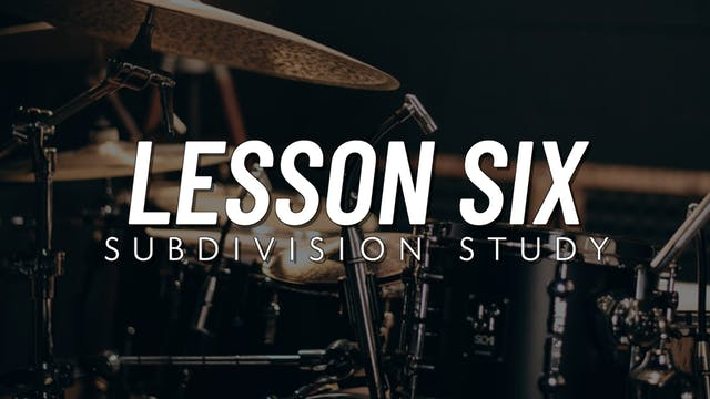 Intermediate Groove | Lesson 6