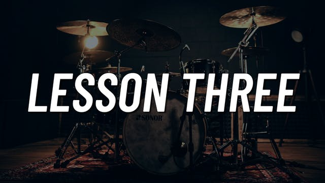 Drum Set Control Boot Camp   Lesson 3