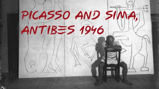Picasso and Sima, Antibes 1946