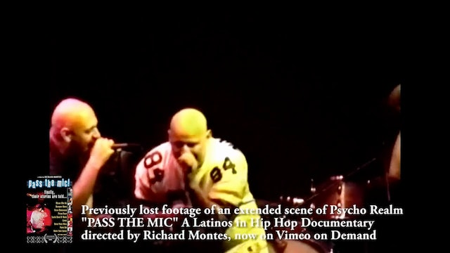 Bonus Feature- PASS THE MIC Extended Psycho Realm Performance Video-HD
