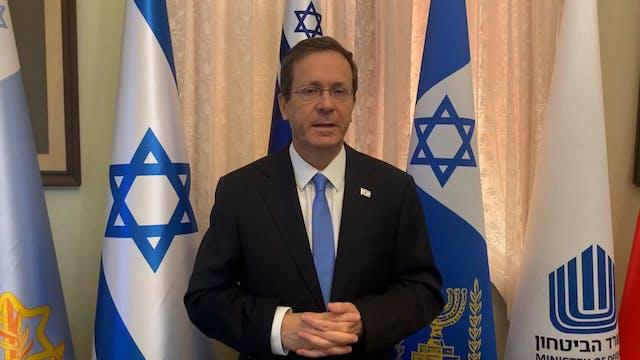 Blessings from President Herzog of Is...