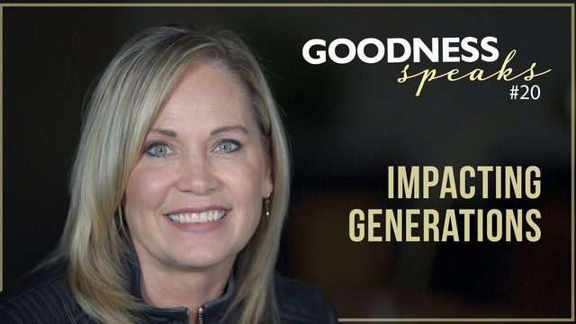 """Impacting Generations"" on Goodness Speaks with Rachelle Fletcher"