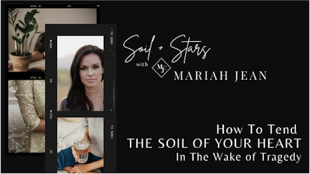 """""""How To Tend The Soil Of Your Heart In The Wake Of Tragedy"""" on SOIL+STARS"""