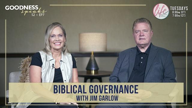 """Biblical Governance with Jim Garlow"" on Goodness Speaks with Rachelle Fletcher"