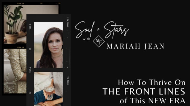 """""""How To Thrive On The Front Lines Of This New Era"""" on SOIL+STARS"""