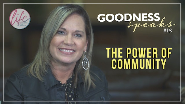 """Power of Community"" on Goodness Speaks with Rachelle Fletcher"
