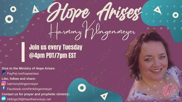 """""""Walking in a Father's Legacy"""" on Hope Arises with Harmony Klingenmeyer"""