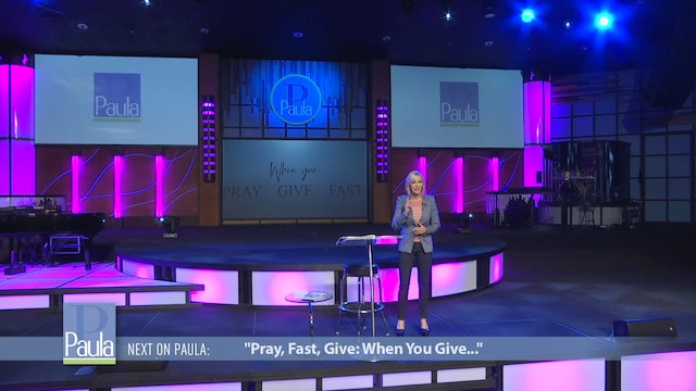 Pray, Fast, Give: When You Give
