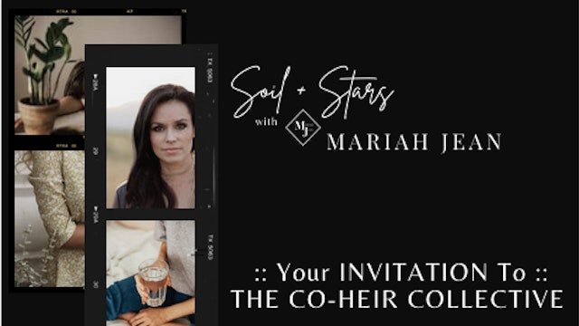 """""""Your Invitation To The Co-Heir Collective"""" on SOIL+STARS"""