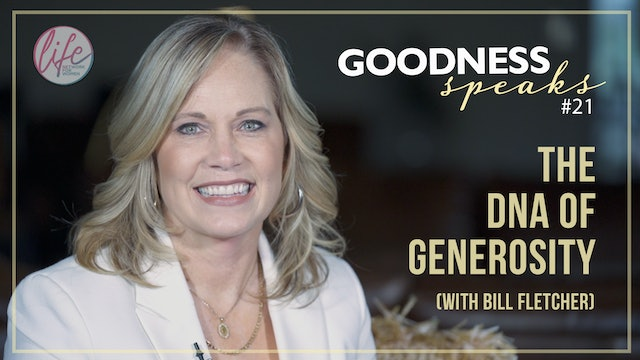 """The DNA of Generosity"" on Goodness Speaks with Rachelle Fletcher"