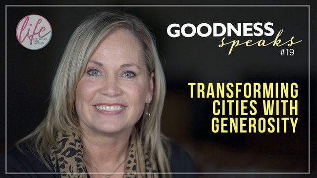 """Transforming Cities with Generosity"" on Goodness Speaks with Rachelle Fletcher"