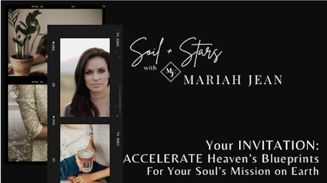 """""""Accelerate Heaven's Blueprint For Your Soul's Mission On Earth"""" on SOIL+STARS"""