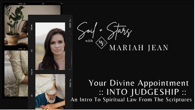 Divine Appointment into Judgeship: Intro to Spiritual Law From The Scriptures
