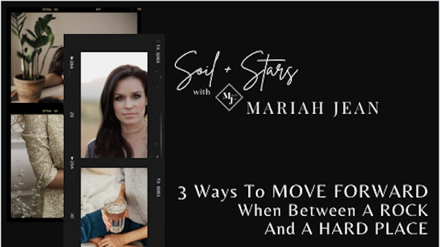 """""""3 Ways To Move Forward When Between A Rock And A Hard Place"""" on SOIL+STARS"""