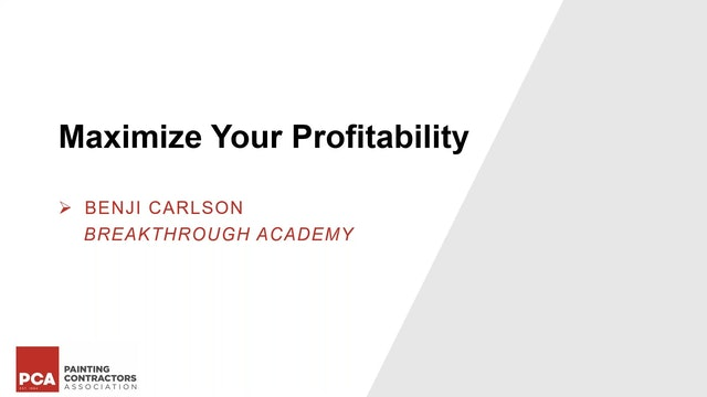 Maximize Your Profitability