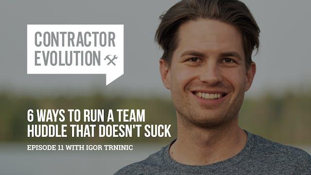 How To Run A Team Huddle