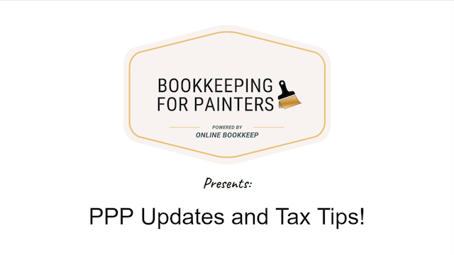 Bookkeeping for Painters