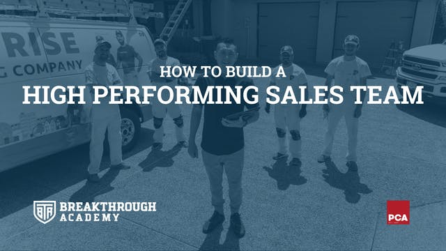 Build a High Performing Sales Team