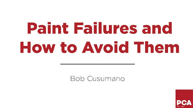 Paint Failures and How To Avoid Them
