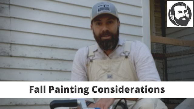 Fall Painting Considerations