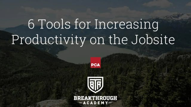 Increase Jobsite Productivity