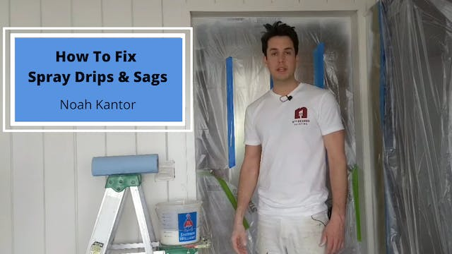 How to Fix Spray Drips & Sags
