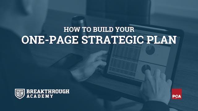 Develop a Strategic Plan 2021
