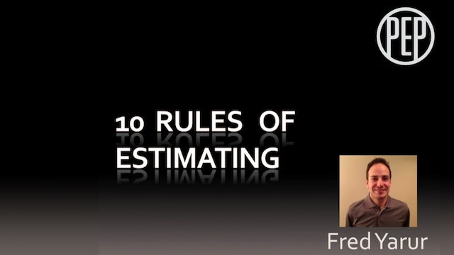 10 Rules of Estimating