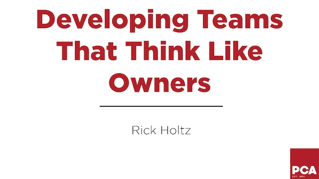 Teams Who Think Like Owners
