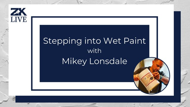 Stepping into Wet Paint