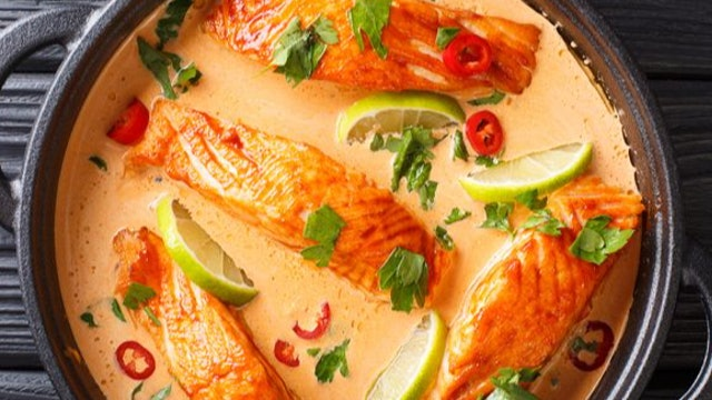 Thai Coconut Poached Salmon