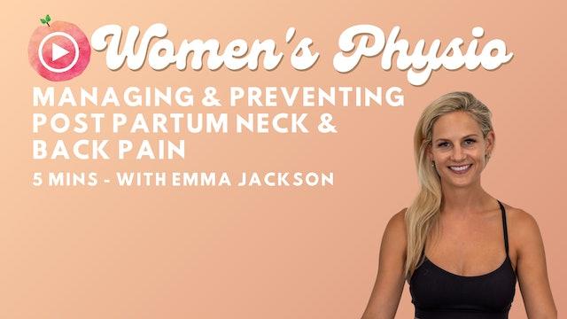 Preventing & Managing Lower back & Neck Pain