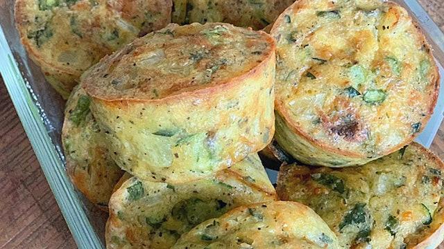 Bec's Cheesy Zucchini Egg Muffins