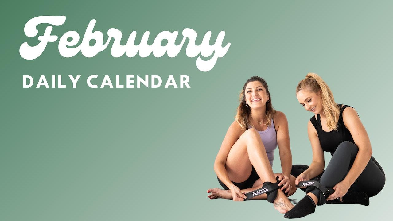 February Daily Calendar