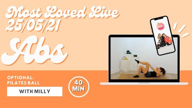 Most Loved Live - Abs with Milly 21/05/21