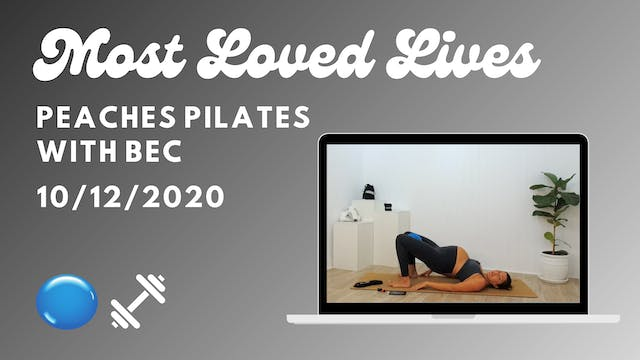 Most Loved Live - Pilates with Bec 10/12