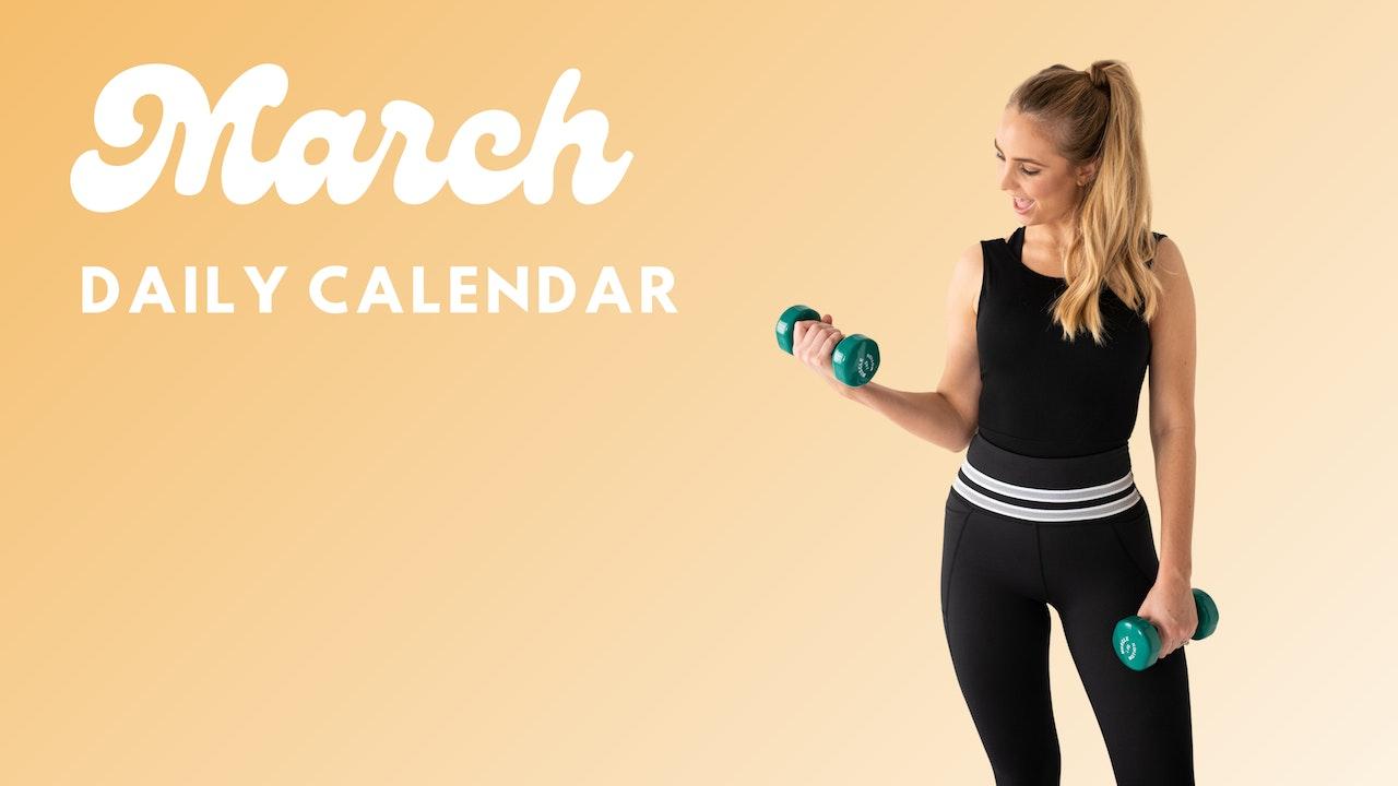 March Daily Calendar