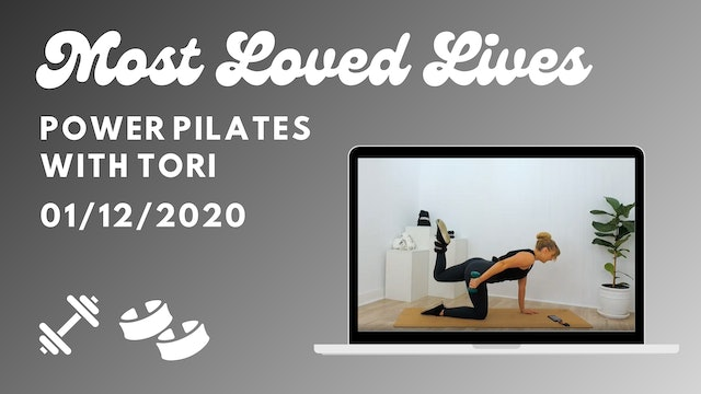 Most Loved Live - Power Pilates with Tori 01/12
