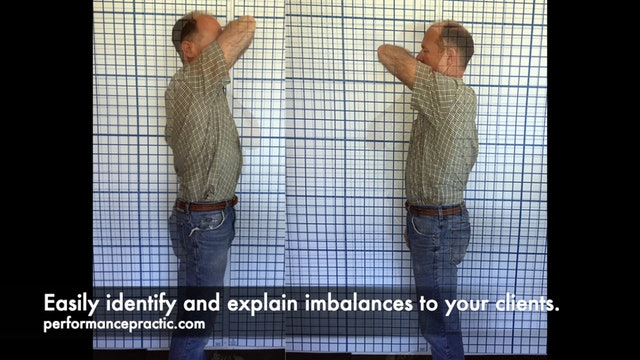 Flexibility Exam using the CoreStretch and Alignabod Posture Grids.