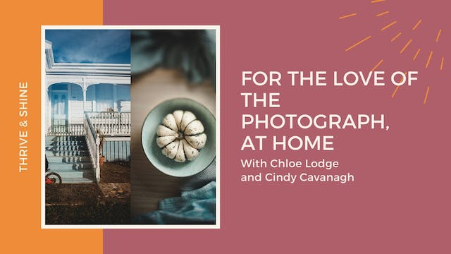 For the Love of the Photograph, at Home