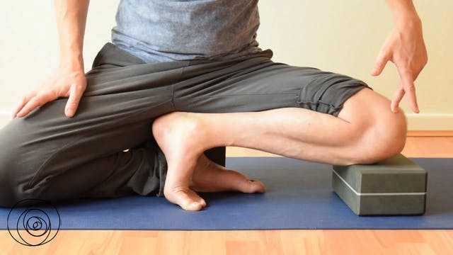 Yoga pose: Janu Sirsanana C preparation