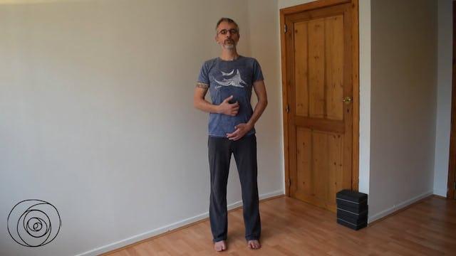 Yoga pose: Tadasana preparation