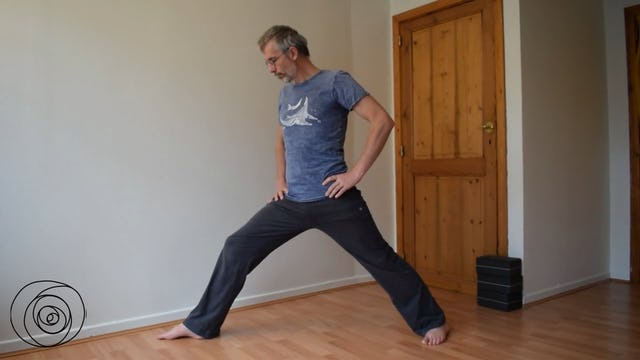 Yoga pose: warrior pose alignment