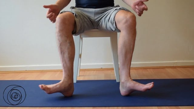 activation outside ankle, knee and hip
