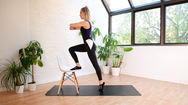 15 min Pilates Body Workout with Toys - Chair