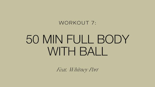 Workout 7: Full Body with Ball (Feat....