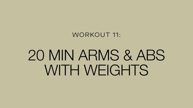 20 Minute Arms & Abs