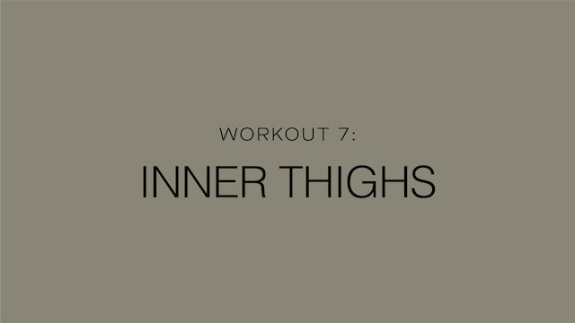 Workout 7: Inner Thighs