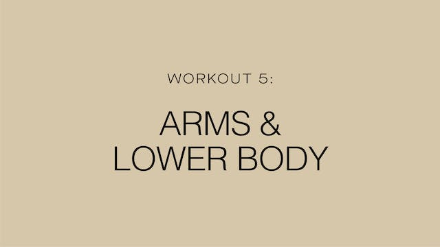Workout 5: Arms and Lower Body